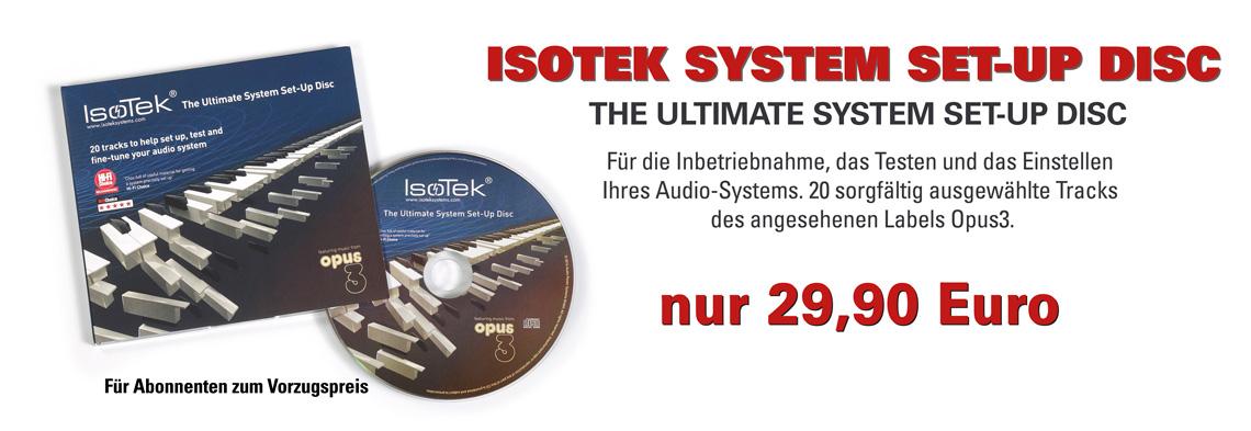 IsoTek System Set-up Disc